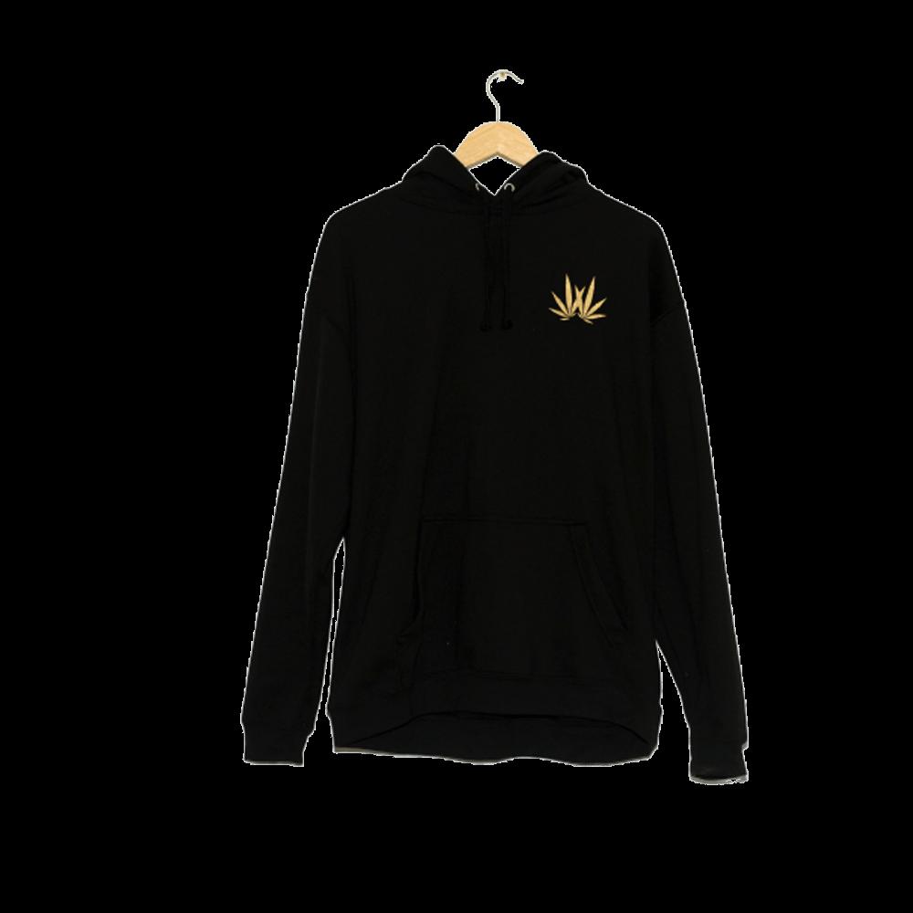 woodies hoodie leaf logo