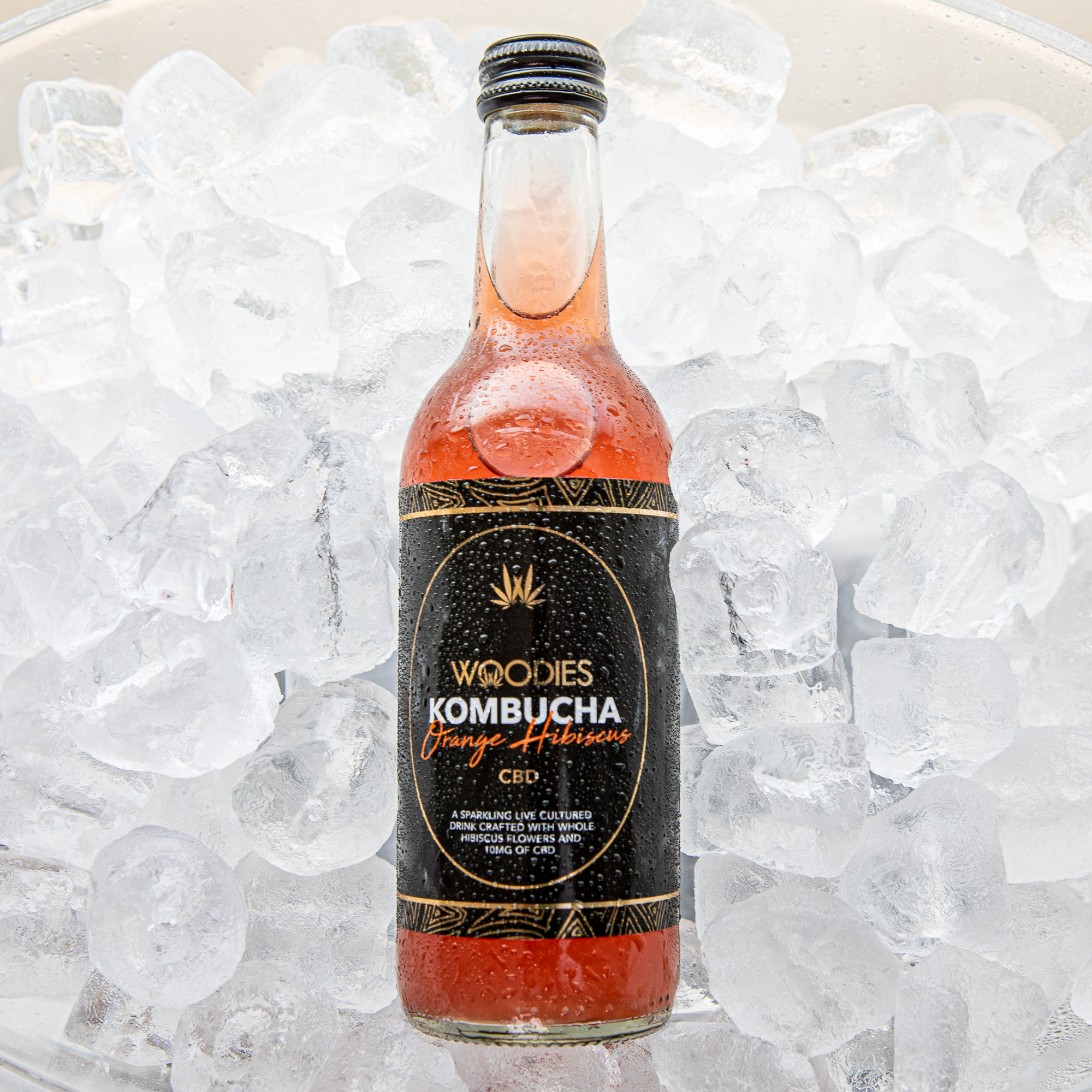 Woodies CBD Kombucha Orange & Hibiscus